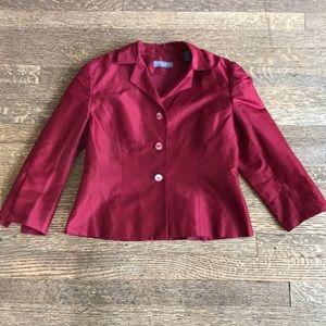Kate Hill Red Silk Blazer
